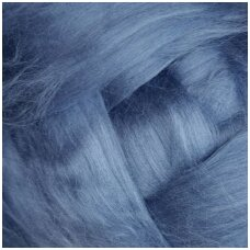 Fine wool tops 50g. ± 2,5g. Color - light blue, 18,6 - 20 mik.