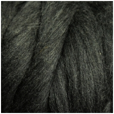 Medium Merino wool tops 50g. ± 2,5g. Color - dark gray melange, 20.1 - 23 mik.