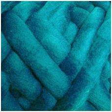 Medium Merino wool tops 50g. ± 2,5g. Color - turquoise, 20.1 - 23 mik.
