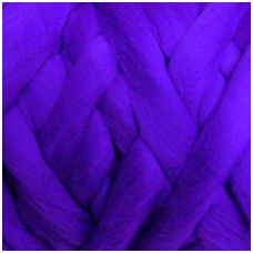 Fine wool tops 50g. ± 2,5g. Color - purple, 18,6 - 20 mik.