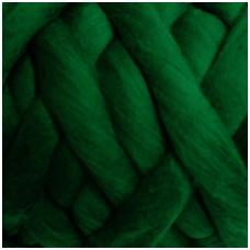 Medium Merino wool tops 50g. ± 2,5g. Color - green, 20.1 - 23 mik.