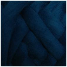 Medium Merino wool tops 50g. ± 2,5g. Color - greenish blue, 20.1 - 23 mik.