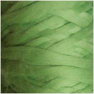 Merino vilnos pieštukinė sluoksna 50g.  ± 2,5g. Spalva - obuolio žalia, 20,1 - 23 mik.