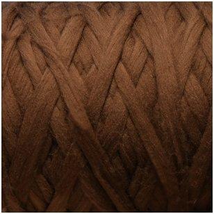 Merino vilnos pieštukinė sluoksna 50g.  ± 2,5g. Spalva - ruda, 20,1 - 23 mik.
