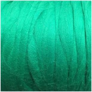 Merino vilnos pieštukinė sluoksna 50g.  ± 2,5g. Spalva - signalinė žalia, 20,1 - 23 mik.
