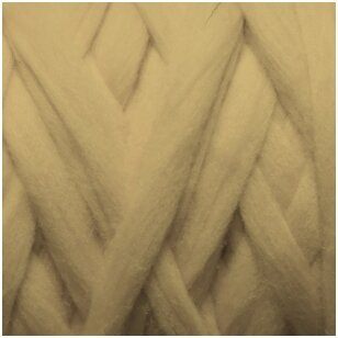 Merino vilnos pieštukinė sluoksna 50g.  ± 2,5g. Spalva - smėlio, 20,1 - 23 mik.