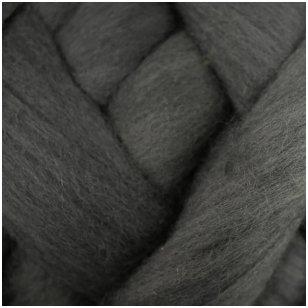 Merino vilnos sluoksna 50 g. ± 2,5 g. Spalva - pilka tamsi, 15,6 - 18,5 mik.