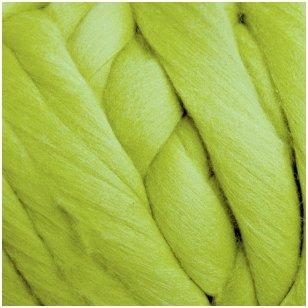 Merino vilnos sluoksna 50 g. ± 2,5 g. Spalva - salotinė, 15,6 - 18,5 mik.