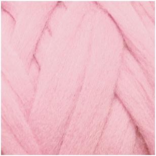 Merino vilnos sluoksna 50 g. ± 2,5 g. Spalva - šviesi rožinė, 15,6 - 18,5 mik.