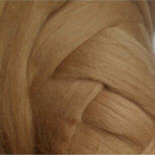 Merino vilnos sluoksna 50g. ± 2,5g. Spalva -garstyčių, 18,6-20 mik.