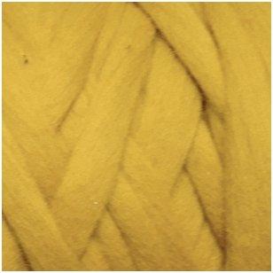 Merino vilnos sluoksna 50g. ± 2,5g. Spalva - garstyčių, 20,1 - 23 mik.