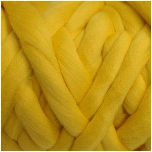 Merino vilnos sluoksna 50g. ± 2,5g. Spalva - geltona, 18,6-20 mik.