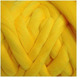 Merino vilnos sluoksna 50g. ± 2,5g. Spalva - geltona, 20,1 - 23 mik.