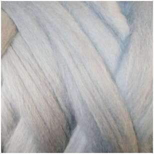 Fine wool tops 50g. ± 2,5g. Color - gray , 18,6 - 20 mik.