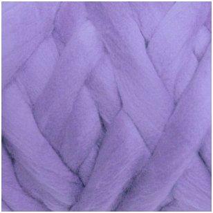 Merino vilnos sluoksna 50g. ± 2,5g. Spalva - pilkai violetinė, 18,6-20 mik.