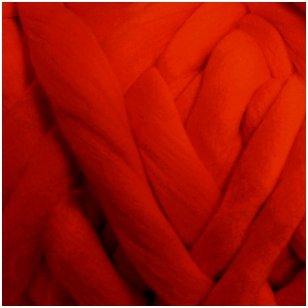 Merino vilnos sluoksna 50g. ± 2,5g. Spalva - raudona, 20,1 - 23 mik.