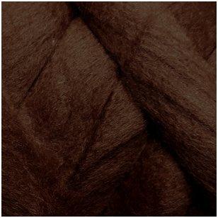 Merino vilnos sluoksna 50g. ± 2,5g. Spalva - ruda, 20,1 - 23 mik.