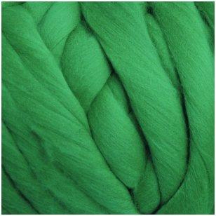 Merino vilnos sluoksna 50g. ± 2,5g. Spalva - signalinė žalia, 20,1 - 23 mik.