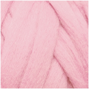 Merino vilnos sluoksna 50g. ± 2,5g. Spalva - šviesi rožinė, 15,6-18,5 mik.