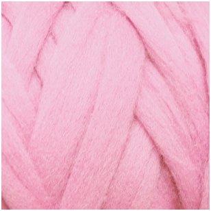 Merino vilnos sluoksna 50g. ± 2,5g. Spalva - šviesi rožinė, 20,1 - 23 mik.