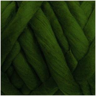 Merino vilnos sluoksna 50g. ± 2,5g. Spalva - žolės žalia, 20,1 - 23 mik.