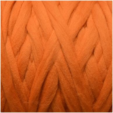 Merino vilnos pieštukinė sluoksna 50g.  ± 2,5g. Spalva - oranžinė, 20,1 - 23 mik.