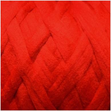 Merino vilnos pieštukinė sluoksna 50g.  ± 2,5g. Spalva - raudona, 20,1 - 23 mik.