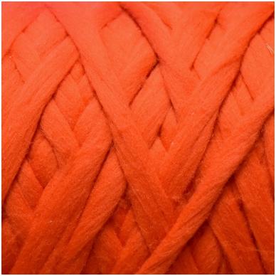 Merino vilnos pieštukinė sluoksna 50g.  ± 2,5g. Spalva - koralų, 20,1 - 23 mik.
