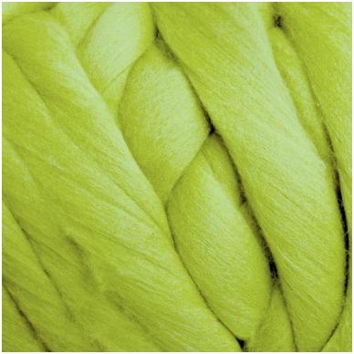 Super fine wool tops 50g. ± 2,5g. Color - salad dish, 15,6 - 18,5 mik.