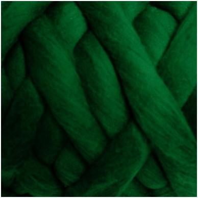 Merino vilnos sluoksna 50 g. ± 2,5 g. Spalva - žalia, 15,6 - 18,5 mik.