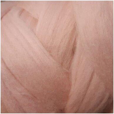 Fine wool tops 50g. ± 2,5g. Color - antique pink, 18,6 - 20 mik.