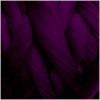 Medium Merino wool tops 50g. ± 2,5g. Color -aubergine 20.1 - 23 mik.
