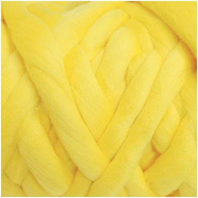 Medium Merino wool tops 50g. ± 2,5g. Color - lemon , 20.1 - 23 mik.