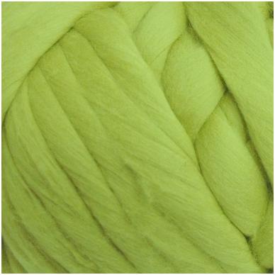 Merino vilnos sluoksna 50g. ± 2,5g. Spalva - obuolio žalia, 18,6-20 mik.