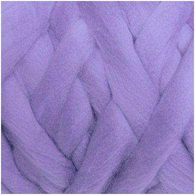 Fine wool tops 50g. ± 2,5g. Color - gray purple 18,6 - 20 mik.