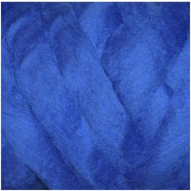 Medium Merino wool tops 50g. ± 2,5g. Color - bluebottle, 20.1 - 23 mik.