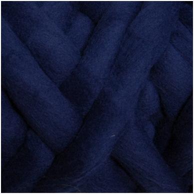 Medium Merino wool tops 50g. ± 2,5g. Color - dark blue , 20.1 - 23 mik.
