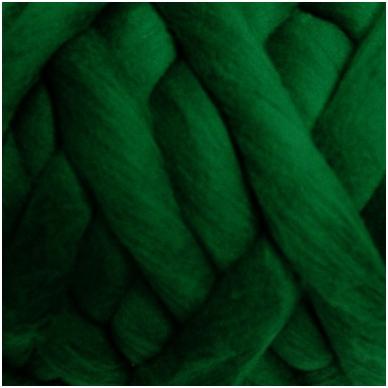 Merino vilnos sluoksna 50g. ± 2,5g. Spalva - žalia, 20,1 - 23 mik.