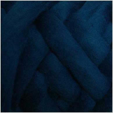 Merino vilnos sluoksna 50g. ± 2,5g. Spalva - žalsvai mėlyna, 20,1 - 23 mik.
