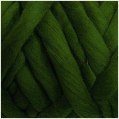 Medium Merino wool tops 50g. ± 2,5g. Color - green grass, 20.1 - 23 mik.