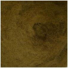 New Zealand carded wool 50g. ± 2,5g. Color - dark orange, 27 - 32 mik.