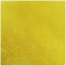 New Zealand carded wool 50g. ± 2,5g. Color - lemon, 27 - 32 mik.