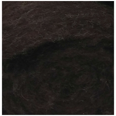 New Zealand carded wool 50g. ± 2,5g. Color - dark brown, 27 - 32 mik.