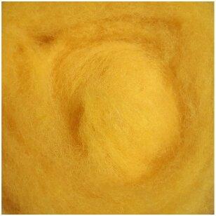N. Zelandijos vilnos karšinys 50g. ± 2,5g. Spalva - geltona, 27 - 32 mik.