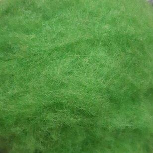 N. Zelandijos vilnos karšinys 50g. ± 2,5g. Spalva - obuolio žalia, 27 - 32 mik.