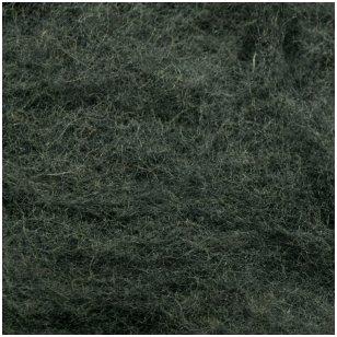 N. Zelandijos vilnos karšinys 50g. ± 2,5g. Spalva - pilka tamsi, 27 - 32 mik.