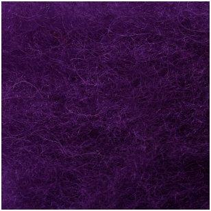 N. Zelandijos vilnos karšinys 50g. ± 2,5g. Spalva - purpurinė violetinė, 27 - 32 mik.