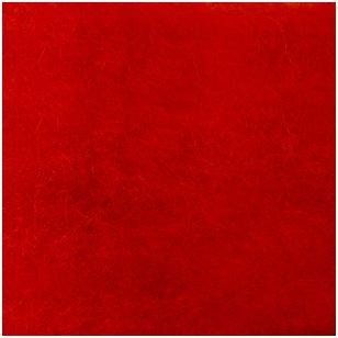 N. Zelandijos vilnos karšinys 50g. ± 2,5g. Spalva - raudona, 27 - 32 mik.