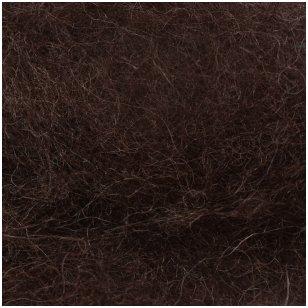 N. Zelandijos vilnos karšinys 50g. ± 2,5g. Spalva - ruda, 27 - 32 mik.