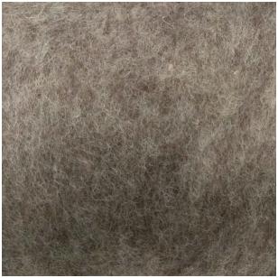 N. Zelandijos vilnos karšinys 50g. ± 2,5g. Spalva - rudas melanžas, 27 - 32 mik.